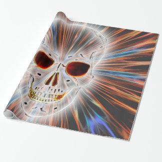 Gothic Skull Horror Wrapping Paper