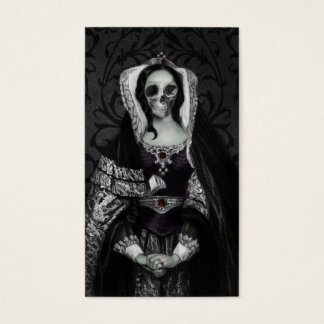 Gothic Skull Lady Business Card