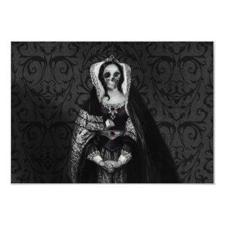 Gothic Skull Lady Card