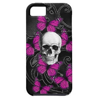 Gothic skull & purple butterflies case for the iPhone 5