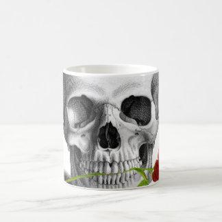 Gothic Skull Rose Horror Fantasy Coffee Mug