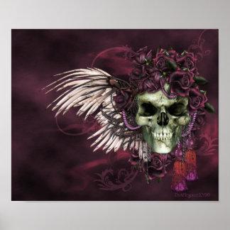 Gothic Skull-Roses of the dead. Poster