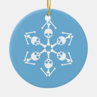 Gothic Skull Snowflakes Christmas Ornament