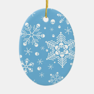 Gothic Skull Snowflakes Christmas Ornament