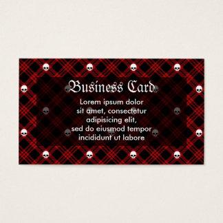 Gothic Skull Tartan Plaid Business Card