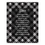 Gothic Skull Tartan Plaid Full Color Flyer