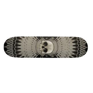 Gothic Skull Tribal Fractal Design: Skateboard #1