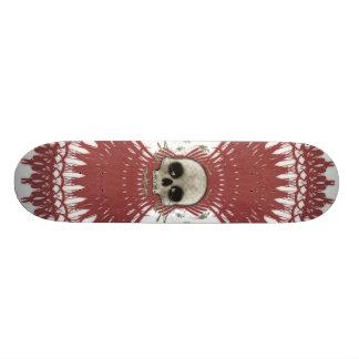 Gothic Skull Tribal Fractal Design: Skateboard #2