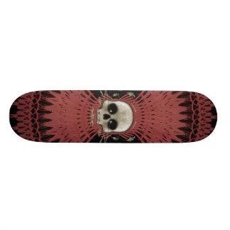 Gothic Skull Tribal Fractal Design: Skateboard #3