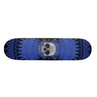 Gothic Skull Tribal Fractal Design: Skateboard #8