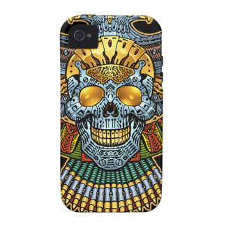 Gothic Skull with Guns and Bullets by Al Rio iPhone 4/4S Case