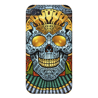 Gothic Skull with Guns and Bullets by Al Rio iPhone 4 Case