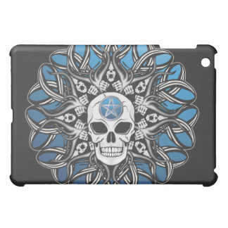 Gothic Skulls - Blue iPad Mini Cover