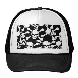 GOTHIC SKULLS CROSSBONES PATTERN CAP