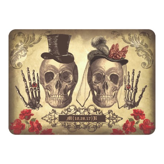 Gothic Skulls Day of The Dead Save the