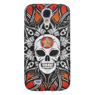 Gothic Skulls - Orange Galaxy S4 Covers