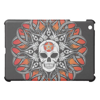 Gothic Skulls - Orange iPad Mini Case