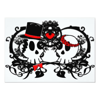 Gothic Skulls Wedding Invitation