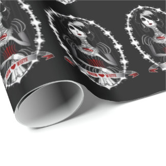 Gothic Snow White Wrapping Paper