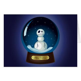Gothic Snowman Snow Globe Card