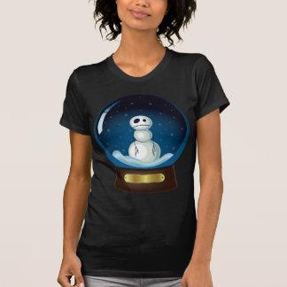 Gothic Snowman Snow Globe T-Shirt