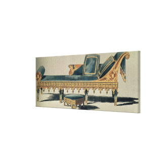 Gothic Sofa from the 'Repository of the Arts' Canvas Print