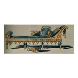 Gothic Sofa from the 'Repository of the Arts' Poster