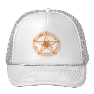 gothic spell symbol mesh hats