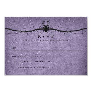 Gothic Spider Halloween Wedding RSVP Card