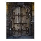 Gothic Spooky Door Postcard