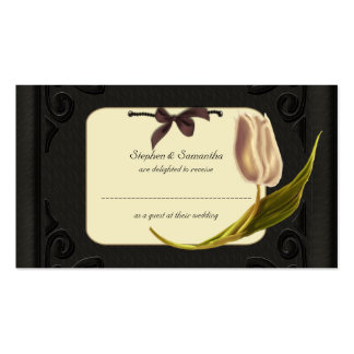 Gothic Spring Wedding Table Place Cards Pack Of Standard Business Cards