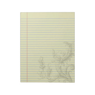 Gothic Steampunk Floral Fantasy Legal Notepad