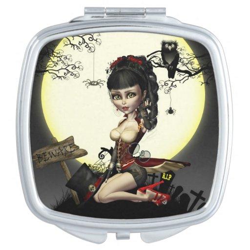 Gothic Steampunk Lolita Compact Mirror