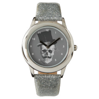 Gothic steampunk skull gentleman character watch