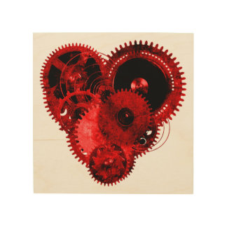 Gothic Steampunk Valentine Heart Wood Canvases