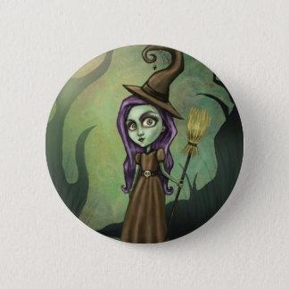 Gothic Steampunk Witch 6 Cm Round Badge