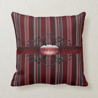 Gothic stripes in red American MoJo Pillow Cushion