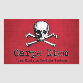 Gothic Style Carpe Diem Stickers