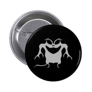 Gothic style Halloween creature 6 Cm Round Badge