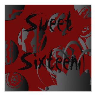 Gothic Sweet Sixteen Invitation- Customize 13 Cm X 13 Cm Square Invitation Card