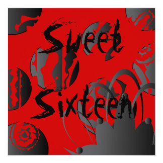 Gothic Sweet Sixteen Invitation- Customize 13 Cm X 13 Cm Square Invitation Card