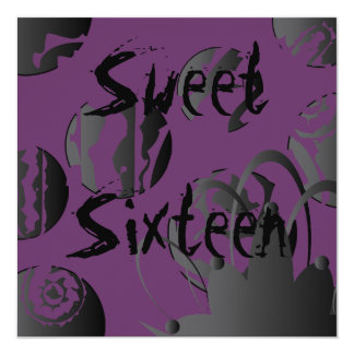 Gothic Sweet Sixteen Invitation- Customize Card