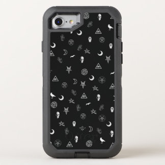 Gothic Symbols Pattern OtterBox Defender iPhone 7 Case