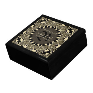 Gothic Tattoo Flower Wedding Anniversary Gift Box