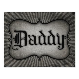 Gothic Text Daddy 11 Cm X 14 Cm Invitation Card