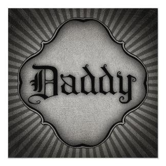 Gothic Text Daddy 13 Cm X 13 Cm Square Invitation Card