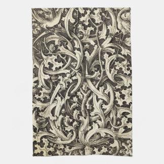 Gothic Thistle Tea Towel