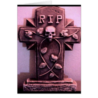 Gothic Tombstone Gray Card