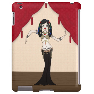 Gothic Tribal Fusion Bellydancer in Stage Scene iPad Case