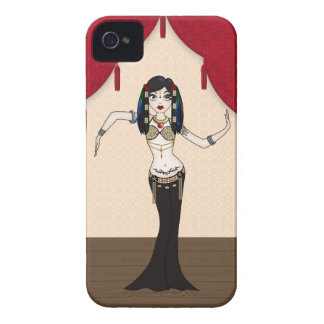 Gothic Tribal Fusion Bellydancer in Stage Scene iPhone 4 Case-Mate Cases